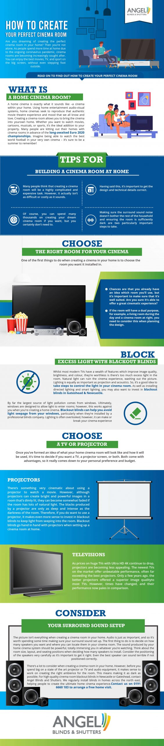How to create your perfect cinema room [Infographic]